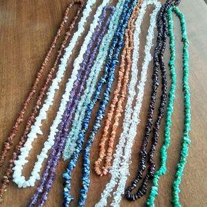Jewelry - Set of 9 Multi Gem Necklaces!